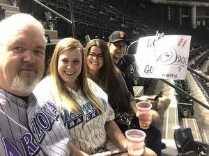 John attended Arizona Diamondbacks vs. San Francisco Giants on Apr 17th 2018 via VetTix