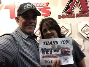 Stephen C attended Arizona Diamondbacks vs. San Francisco Giants on Apr 17th 2018 via VetTix