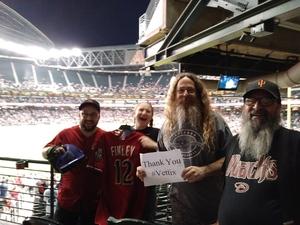 Charles attended Arizona Diamondbacks vs. San Francisco Giants on Apr 17th 2018 via VetTix