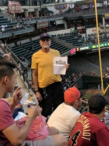 Arthur attended Arizona Diamondbacks vs. San Francisco Giants on Apr 18th 2018 via VetTix