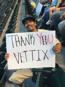 Ferdinand attended Arizona Diamondbacks vs. San Francisco Giants on Apr 18th 2018 via VetTix