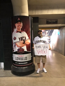 David attended Arizona Diamondbacks vs. San Francisco Giants on Apr 18th 2018 via VetTix