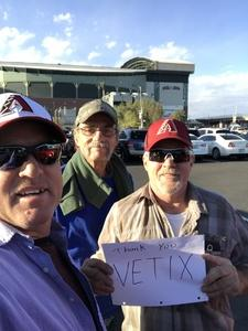 david attended Arizona Diamondbacks vs. San Diego Padres - MLB on Apr 20th 2018 via VetTix