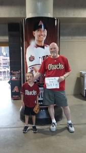 Patrick attended Arizona Diamondbacks vs. San Diego Padres - MLB on Apr 21st 2018 via VetTix