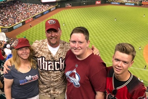 Michael attended Arizona Diamondbacks vs. San Diego Padres - MLB on Apr 21st 2018 via VetTix