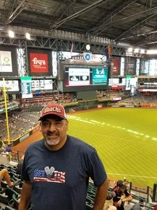 Freddie attended Arizona Diamondbacks vs. San Diego Padres - MLB on Apr 22nd 2018 via VetTix
