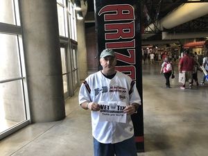 Ron attended Arizona Diamondbacks vs. San Diego Padres - MLB on Apr 22nd 2018 via VetTix