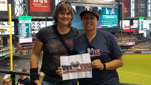 Yvonne attended Arizona Diamondbacks vs. San Diego Padres - MLB on Apr 22nd 2018 via VetTix