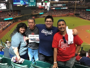 Angel attended Arizona Diamondbacks vs. San Diego Padres - MLB on Apr 22nd 2018 via VetTix