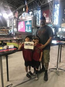 Jeremy attended Arizona Diamondbacks vs. San Diego Padres - MLB on Apr 22nd 2018 via VetTix
