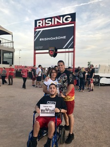 David attended Phoenix Rising FC vs. Swope Park Rangers - USL on Apr 21st 2018 via VetTix