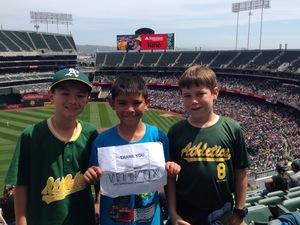 Vince attended Oakland Athletics vs. Boston Red Sox - MLB on Apr 22nd 2018 via VetTix