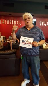 tracy attended Million Dollar Quartet on Apr 21st 2018 via VetTix