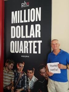 Dale attended Million Dollar Quartet on Apr 21st 2018 via VetTix