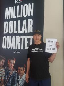Robert attended Million Dollar Quartet on Apr 21st 2018 via VetTix
