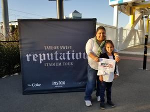 Wendy attended Taylor Swift Reputation Stadium Tour on May 11th 2018 via VetTix