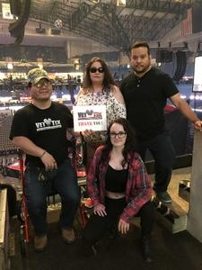 Seung attended P! Nk: Beautiful Trauma World Tour on May 2nd 2018 via VetTix