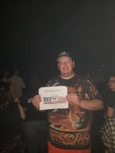 Brian attended Black Veil Brides and Asking Alexandria on May 2nd 2018 via VetTix