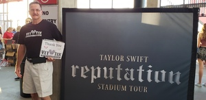 Tom attended Taylor Swift Reputation Stadium Tour on May 8th 2018 via VetTix