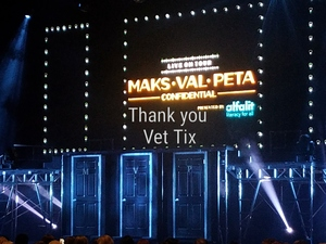 MICHAEL attended Maks, Val and Peta Live on Tour: Confidential on May 4th 2018 via VetTix