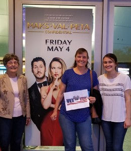 Linda attended Maks, Val and Peta Live on Tour: Confidential on May 4th 2018 via VetTix