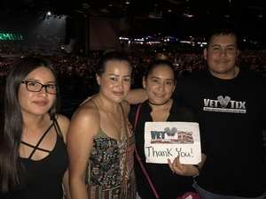 Jose attended The Adventures of Kesha and Macklemore on Jun 6th 2018 via VetTix