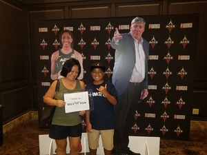 Jamey attended Hoops for Troops - Las Vegas Aces. Vs. Chicago Sky - WNBA on Jul 5th 2018 via VetTix