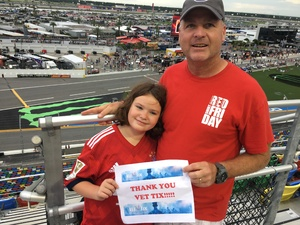 Dale attended Coca-cola Firecracker 250 at Daytona on Jul 6th 2018 via VetTix