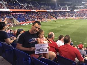 Max attended New York Red Bulls vs. Columbus Crew SC MLS on Jul 28th 2018 via VetTix