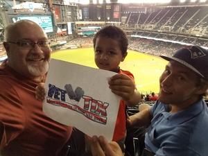 Christopher attended Arizona Diamondbacks vs. Atlanta Braves - MLB on Sep 6th 2018 via VetTix