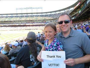 Michael attended Colorado Rockies vs Arizona Diamondbacks - MLB on Sep 13th 2018 via VetTix