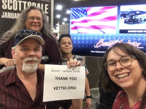 Craig attended Barrett Jackson - the World's Greatest Collector Car Auction in Vegas - Tickets Are 2 for 1, So 1 Ticket Will Get 2 People in - Saturday on Sep 29th 2018 via VetTix