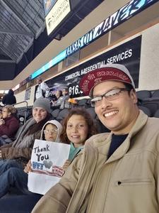 Ricardo attended Kansas City Mavericks vs. Tulsa Oilers - ECHL on Nov 30th 2018 via VetTix