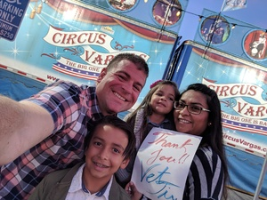 Paul B attended Circus Vargas on Nov 1st 2018 via VetTix