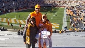 Steven attended University of Tennessee Vols vs. University of Kentucky Wildcats - NCAA Football on Nov 10th 2018 via VetTix