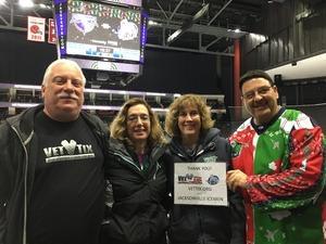 Louis attended Jacksonville Icemen vs. South Carolina Stingrays - ECHL on Dec 19th 2018 via VetTix