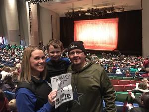 Devin attended Disney's Aladdin - Des Moines Performing Arts - Matinee on Nov 29th 2018 via VetTix