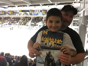 Walks attended University of Michigan Wolverines vs. Merrimack Warriors - NCAA Men's Hockey on Jan 8th 2019 via VetTix