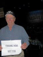 John attended Abc's Nashville in Concert on Apr 17th 2016 via VetTix