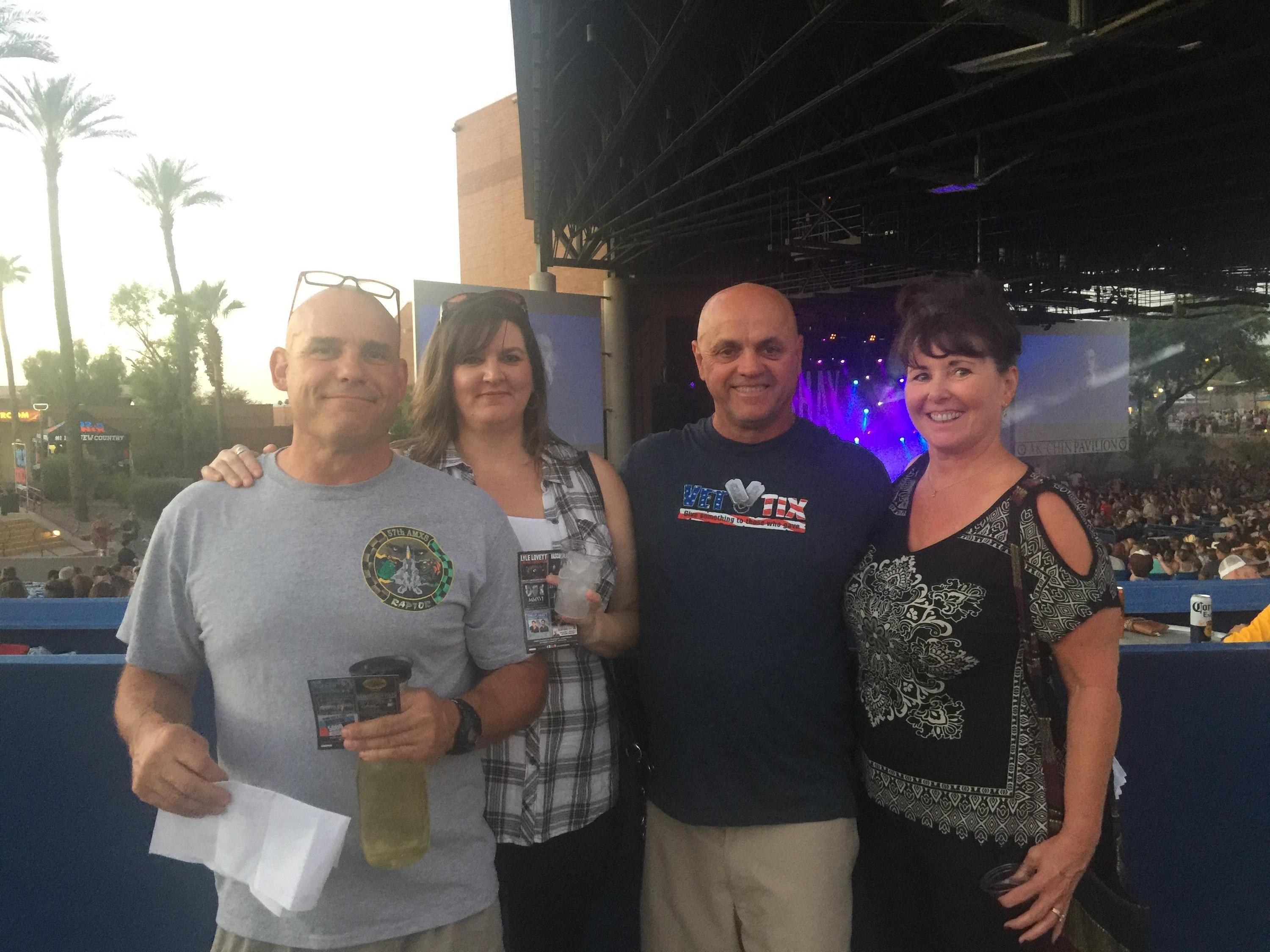 Thank you messages to veteran tickets foundation donors charles attended darius rucker with dan and shay with michael ray the good for a kristyandbryce Images