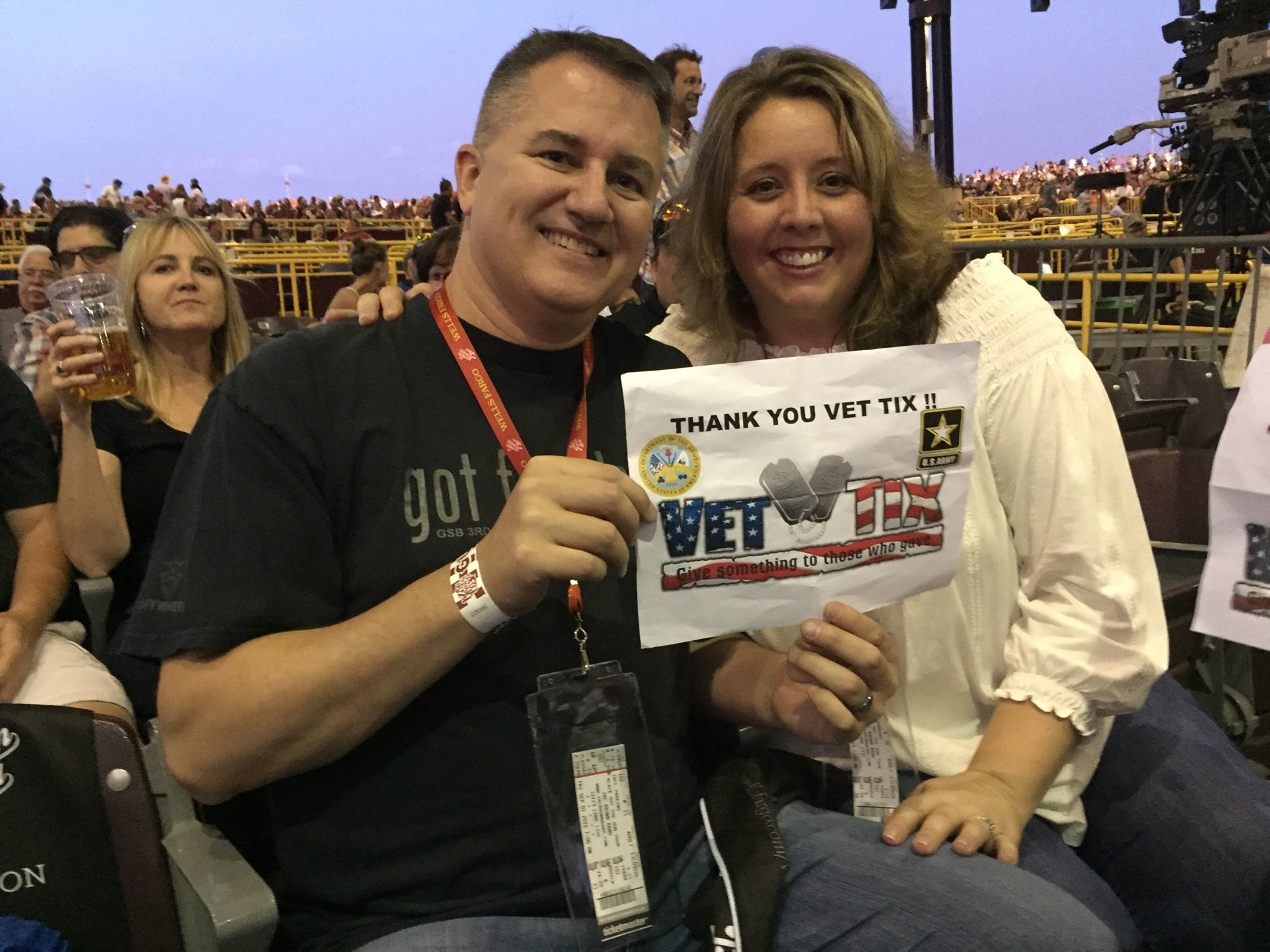 Thank you messages to veteran tickets foundation donors steven attended zac brown band black out the sun tour with meet and greet opportunity m4hsunfo