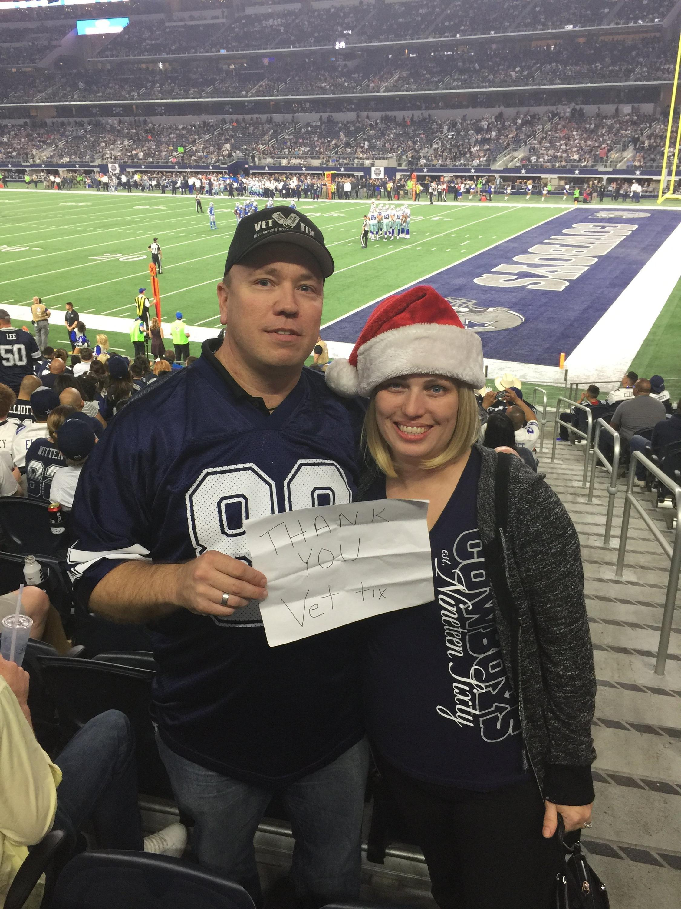 Thank you messages to veteran tickets foundation donors charles attended dallas cowboys vs detroit lions nfl kurt warner meet and greet m4hsunfo Image collections