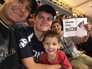 Click To Read More Feedback from Arizona Coyotes vs. Boston Bruins - NHL - Military Appreciation Night
