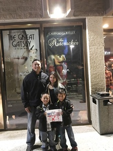 Click To Read More Feedback from The Nutcracker Performed by California Ballet