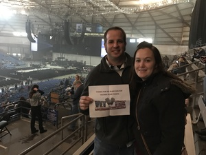 Joel & Christie attended Blake Shelton - Doing It to Country Songs Tour - Tacoma Dome on Feb 25th 2017 via VetTix