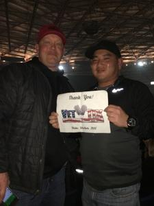 Tyler attended Blake Shelton - Doing It to Country Songs Tour - Tacoma Dome on Feb 25th 2017 via VetTix
