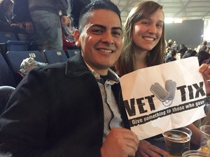Oscar attended Blake Shelton - Doing It to Country Songs Tour - Tacoma Dome on Feb 25th 2017 via VetTix