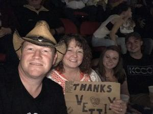 Gregory attended Tim McGraw and Faith Hill - Soul2Soul World Tour - KFC Yum! Center on Apr 28th 2017 via VetTix