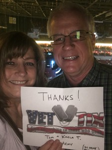 Thomas attended Tim McGraw and Faith Hill - Soul2Soul World Tour - KFC Yum! Center on Apr 28th 2017 via VetTix