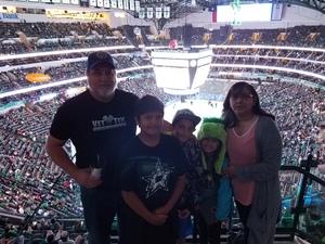 Monkman Family attended Dallas Stars vs. Arizona Coyotes - NHL on Apr 4th 2017 via VetTix